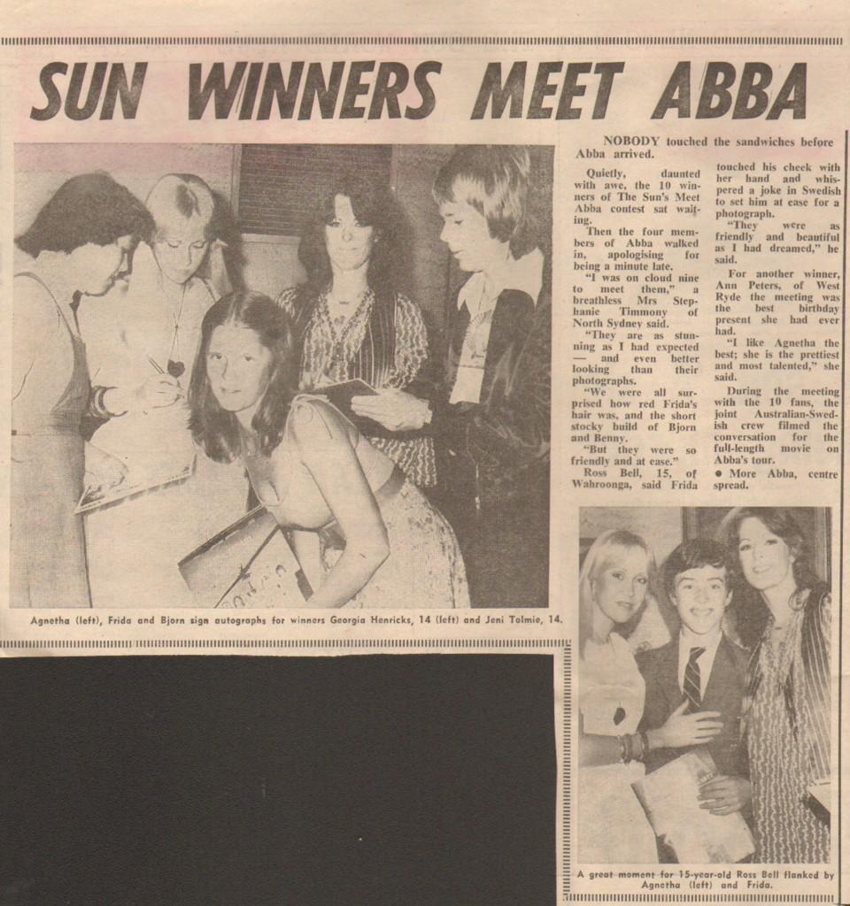 sun winners meet abba 1 march 1977